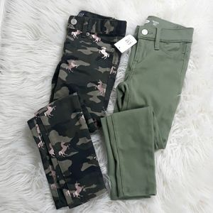 NWT Gap unicorn Old Navy green jeggings size 6